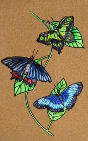 butterflies. 6x12. $100