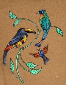 birds. 8x12. $125