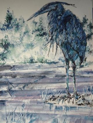 Heron standing 400